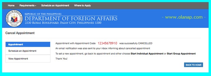 How to Cancel or Reschedule Your DFA Appointment for Your